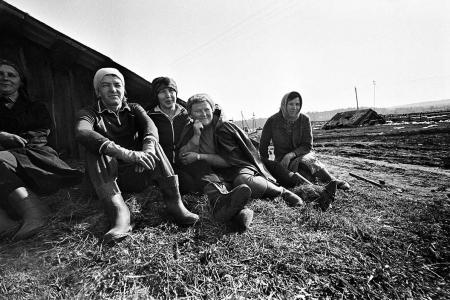 Поездка в колхоз. Весна 1986 год.