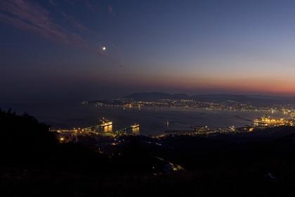 Панорама. Кавказ. Новороссийск. Порт. Ночь.