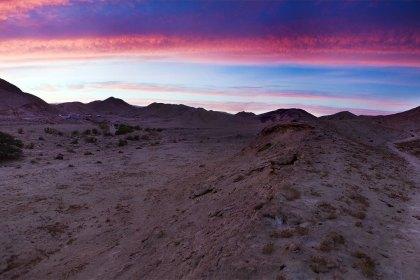 Панорама. Пустыня Негев. Израиль.
