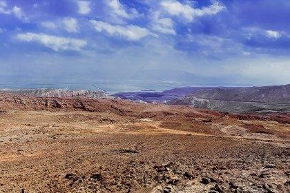 Панорама. Пустыня Негев. Мертвое море. Израиль.