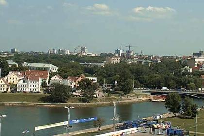 Панорама. Минск. Набережная реки Свислочь.