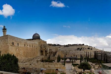 Панорама. Храмовая гора. Израиль.