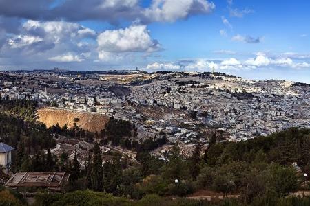 Панорама. Храмовая гора. Иерусалим. Израиль.