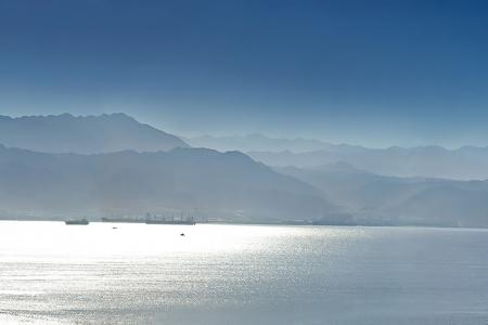 Панорама. Эйлатский залив. Израиль.