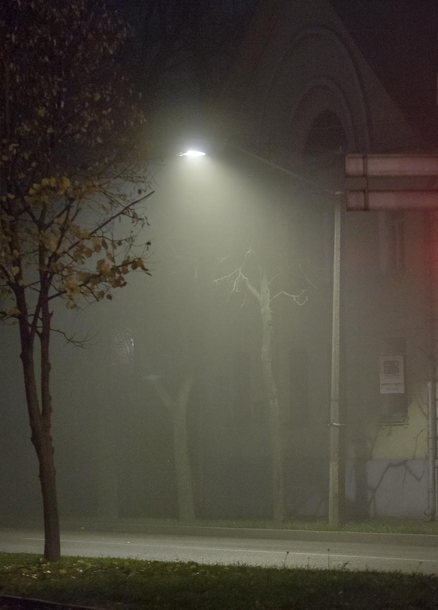 туман и город